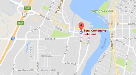 Get Directions to Total Computing Solutions in De Pere, WI